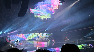 """The 2nd Law World Tour - Muse performing """"Follow Me"""" in Manchester during The 2nd Law Tour"""