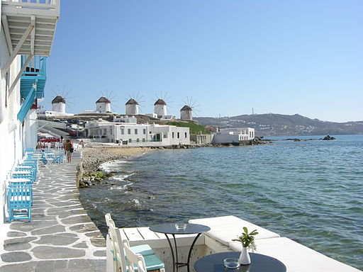 Mykonos, little venice, Greece