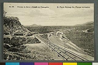 Nº 33. Principio da Serra e Estação Piassagnèra. - S. Paulo Railway Co. Planos Inclinados