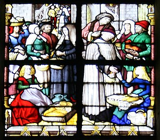 Stained glass - Image: N D de Tournai Tax on food stalls