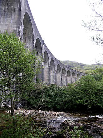 Glenfinnan Viaduct - Twelve of the viaduct's twenty-one arches