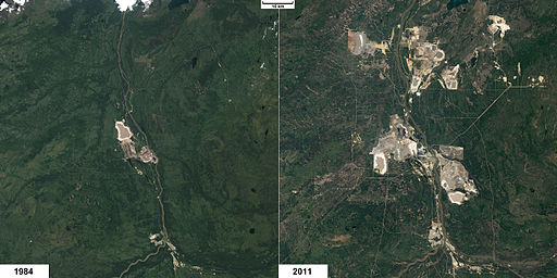 NASA EO Athabasca tar sands environmental impact 1984 vs 2011
