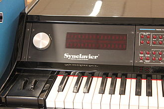 Synclavier - Display and control wheel on VPK (1984)