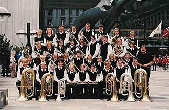 School band - Sveio School band at the Norwegian Championship in 2002