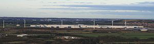 Nissan Motor Manufacturing UK - The plant viewed from the South.