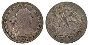 Half dime -  1796 Draped Bust half dime with small eagle reverse