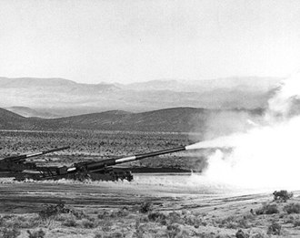 Nuclear artillery - 280 mm 'Atomic Annie' firing the ''Shot GRABLE'', May 25, 1953