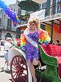 NOLA Pride 2010 Miss NOLA Pride carriage exit.JPG