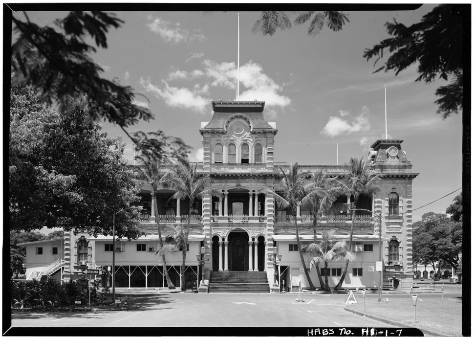 NORTHEAST FACADE - Iolani Palace, King and Richards Streets, Honolulu, Honolulu County, HI HABS HI,2-HONLU,8-7