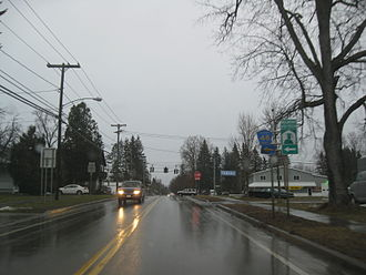 New York State Route 244 - NY 244 at the junction with CR 48 in the village of Belmont