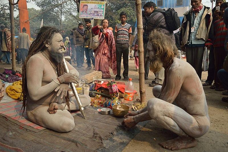 Arquivo: Naga Sadhus - Gangasagar Fair Transit Camp - Kolkata 2013-01-12 2821.JPG