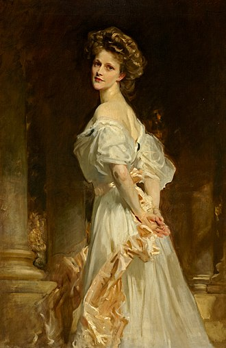 Nancy Astor, Viscountess Astor - Portrait of Nancy Astor by John Singer Sargent, 1909