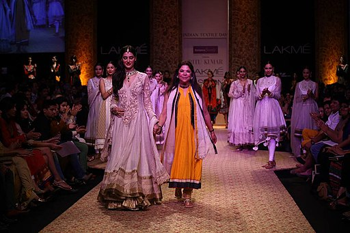 Nargis Fakhri in Ritu Kumar at Lakme Fashion Week at Grand Hyatt Mumbai, by SouBoyy, Sourendra Kumar Das.
