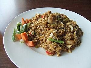 Fried rice - Image: Nasi goreng Solaria Kuta