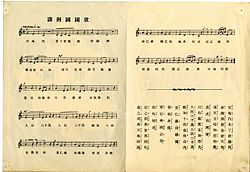 National anthem of Manchukuo 1933.jpg