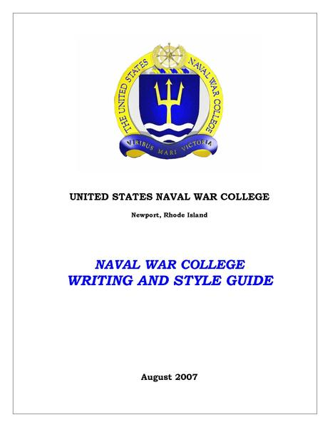 navy writing style guide
