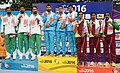 Neeraj Kumar, Gurpreet Singh and Mahender Singh of India won Gold Medal, Hussain Maqbool Tabassum, Mustafa Ghulam Bashir and Muhammad Kabir of Pakistan won Silver Medal and S. Fernandos.jpg
