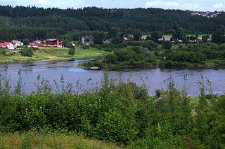 Nemuno-Nevėžio santaka nuo Pyplių piliakalnio.Foto:Vilensija