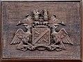 Neukirchen Kirche von Langen Wappen an Patronatsloge.jpg
