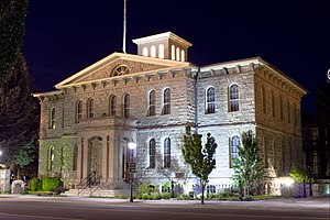 Carson City, Nevada - Carson City Mint at night
