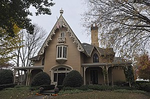 William J. Rotch Gothic Cottage - Image: New Bedford MA Rotch Cottage Front