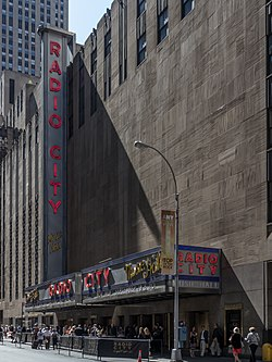 Facade of the Radio City Music Hall