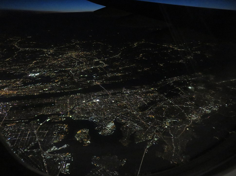 New York aerial night 2018e