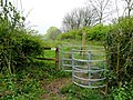 New stile and permissive path - geograph.org.uk - 1253874.jpg