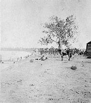 Nez Perce prisoners at Tongue River Cantonment-1877