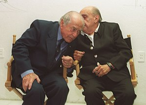 Leonel Brizola - Brizola with architect Oscar Niemeyer in 2002
