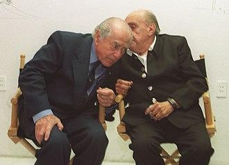 Leonel Brizola - Brizola with architect Oscar Niemeyer in 2002