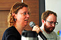 "Nina Paley and Smári McCarthy during the ""Free Culture"" talks at Swatantra 2014.JPG"