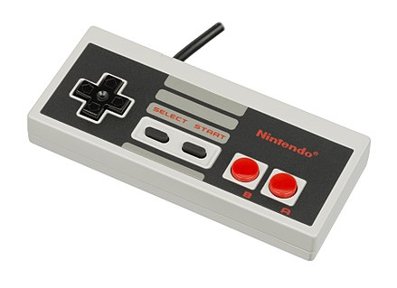 The iconic NES controller. Nintendo-Entertainment-System-NES-Controller-FL.jpg