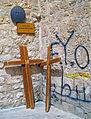 Ninth Station of the Cross, Via Dolorosa, with graffitti.jpg