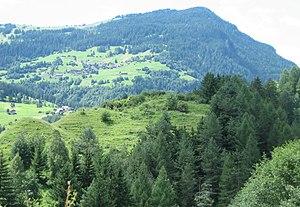 Lage der Burg Nivagl