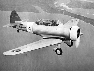 North American BT-9 - A U.S. Navy NJ-1 in flight, 1938