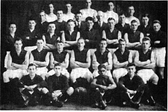 Victorian Football League - Northcote's 1929 premiership side. Second from right, front row, is Doug Nicholls.