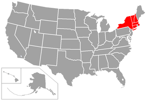 Northeast-10 Conference - Image: Northeast 10 USA states