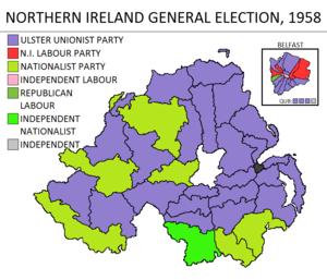 Northern Ireland general election, 1958 - Image: Northern Ireland general election 1958