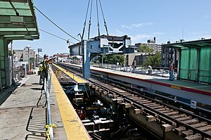 Atlantic Branch - Replacement of the Atlantic Avenue Viaduct at Nostrand Avenue in July 2011.
