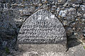 Noughaval James Davoren Chapel Headstone 2015 09 01.jpg