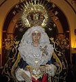 Nuestra Señora de los Dolores expuesta den Devoto Besamanos.jpg