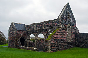 Dubgall mac Somairle - The remains of Iona Nunnery, an Augustinian religious that may been built before the turn of the thirteenth century. Dubgall's sister, Bethóc appears to have been its first prioress.