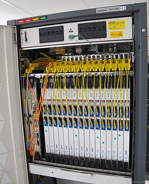 Optical line termination - An Alcatel-Lucent OLT used by the French operator CityPlay