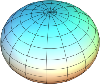 an ellipsoid that approximates the figure of the Earth
