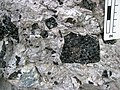 Obsidian clast breccia (Nez Perce Creek Flow, ~152 ka; Firehole Canyon roadcut, Yellowstone, Wyoming, USA) 7 (20118373338).jpg