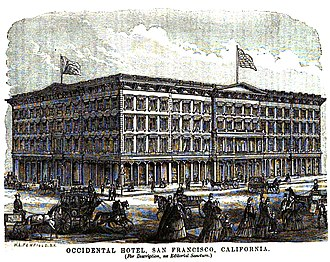 Occidental Hotel - Image: Occidental Hotel Engraving