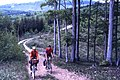 Off road cycling, Bukk Mountains Hungary May 1988 (19932158768).jpg
