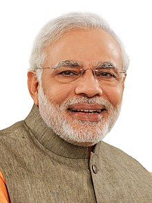 Official portrait of prime minister of India, Narendra Modi (cropped).jpg