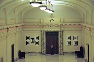 Oklahoma Supreme Court - The offices of the Oklahoma Supreme Court, when it met in the Oklahoma State Capitol